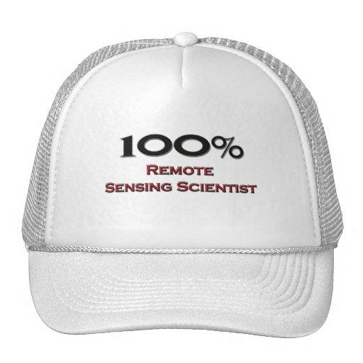 Científico de la teledetección del 100 por ciento gorros