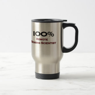 Científico de la teledetección del 100 por ciento tazas de café