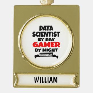 Científico de los datos del videojugador adornos navideños dorados
