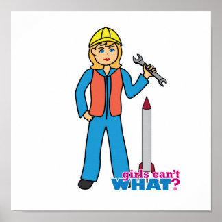 Científico de Rocket - luz/Blonde Posters