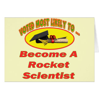 Científico de Rocket Tarjeta De Felicitación