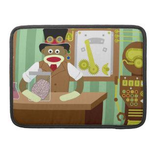 Científico de Steampunk del mono del calcetín Fundas Para Macbooks