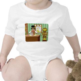 Científico de Steampunk del mono del calcetín Trajes De Bebé
