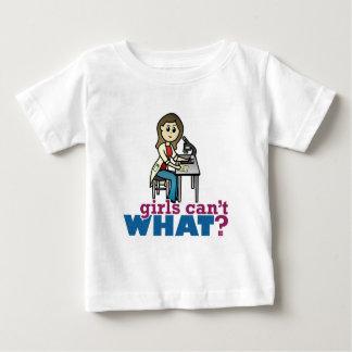 Científico del chica camisetas