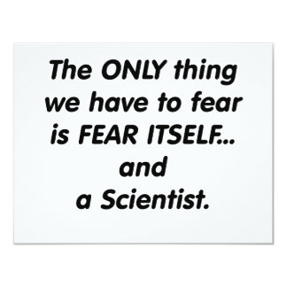 científico del miedo comunicado personalizado