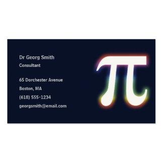 Científico del pi el | tarjetas de visita