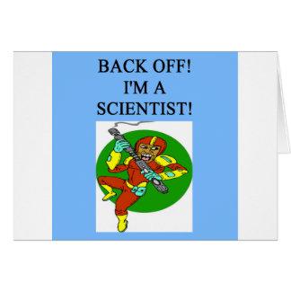 científico duro tarjeta de felicitación