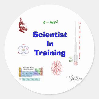 Científico en el entrenamiento pegatinas