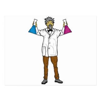 Científico enojado 1 postal