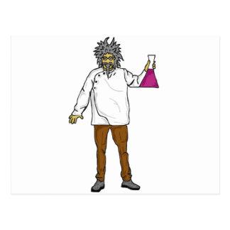 Científico enojado 2 postales