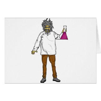 Científico enojado 2 tarjeta de felicitación