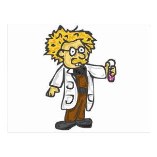 Científico enojado 3 postal