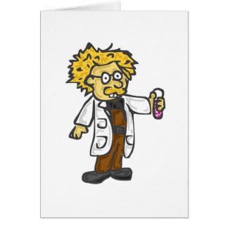 Científico enojado 3 tarjeta de felicitación