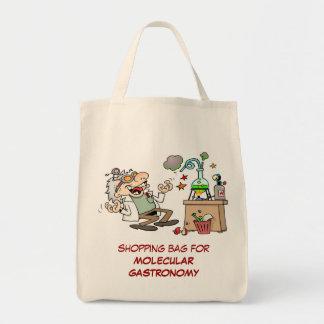 Científico enojado bolsa tela para la compra