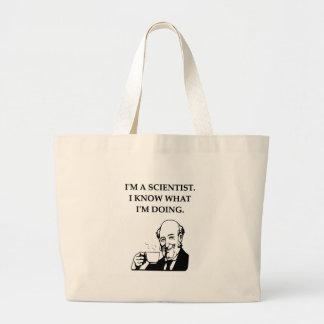 científico enojado bolsas