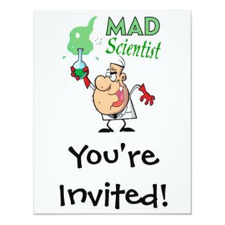 """científico enojado del dibujo animado invitación 4.25"""" x 5.5"""""""