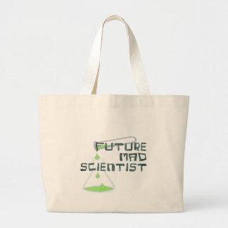 Científico enojado futuro bolsa tela grande