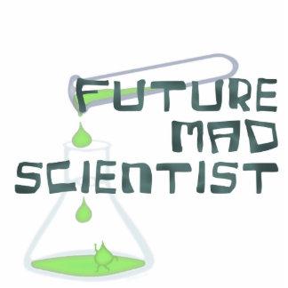 Científico enojado futuro fotoescultura vertical