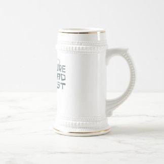 Científico enojado futuro jarra de cerveza