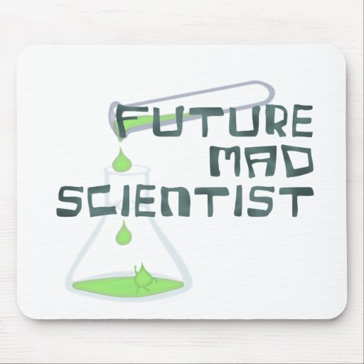 Científico enojado futuro mousepads