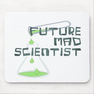 Científico enojado futuro tapete de ratones