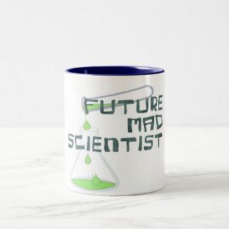 Científico enojado futuro taza de dos tonos
