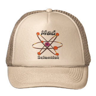 Científico enojado gorros bordados