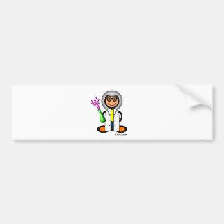 Científico enojado (llano) pegatina de parachoque