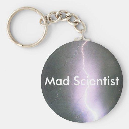 científico enojado llaveros personalizados