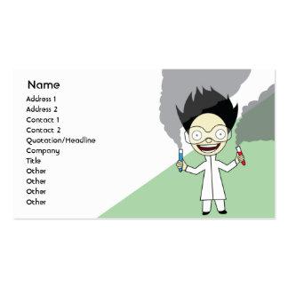 Científico enojado - negocio tarjeta personal