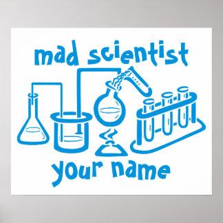 Científico enojado impresiones