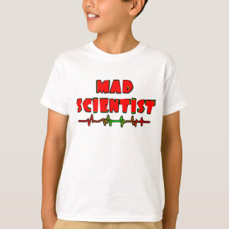 Científico enojado playera
