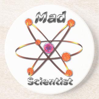 Científico enojado posavasos diseño