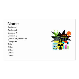 Científico enojado tarjetas de visita