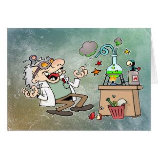 Científico enojado tarjeta de felicitación