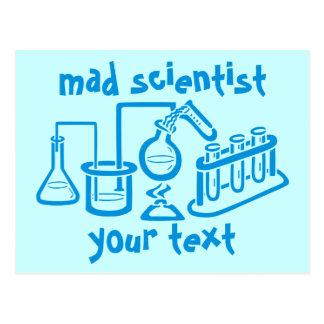 Científico enojado postales