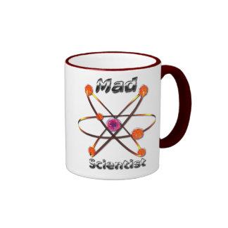 Científico enojado taza de dos colores