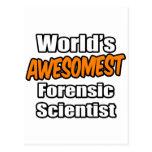 Científico forense de Awesomest del mundo Postal
