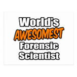 Científico forense de Awesomest del mundo Postales