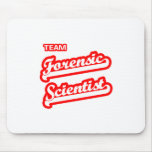 Científico forense del equipo tapetes de ratón