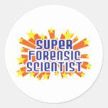 Científico forense estupendo pegatina redonda