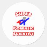 Científico forense estupendo pegatinas redondas