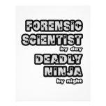 Científico forense. Ninja mortal Membrete Personalizado