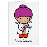 Científico futuro - chica tarjeta