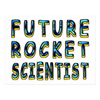 Científico futuro de Rocket en 3D Tarjetas Postales