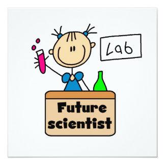Científico futuro invitación 13,3 cm x 13,3cm