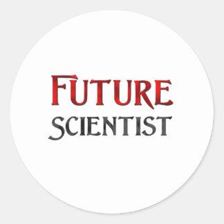 Científico futuro pegatina redonda