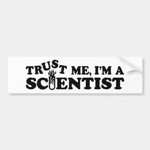 Científico Pegatina De Parachoque