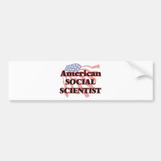 Científico social americano pegatina para auto