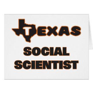 Científico social de Tejas Tarjeta De Felicitación Grande